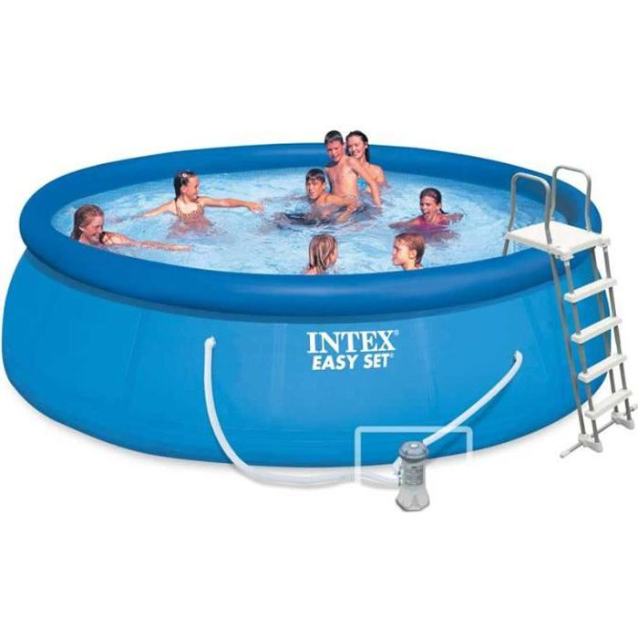 Intex piscine ronde autoportante 4 57 x 1 22 m achat for Piscine ronde intex