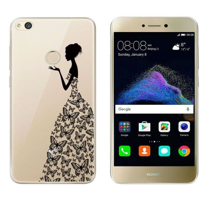 coque pour huawei p8 lite 2017 5 2 belle fille motif flexible silicone tpu gel tr s mince. Black Bedroom Furniture Sets. Home Design Ideas