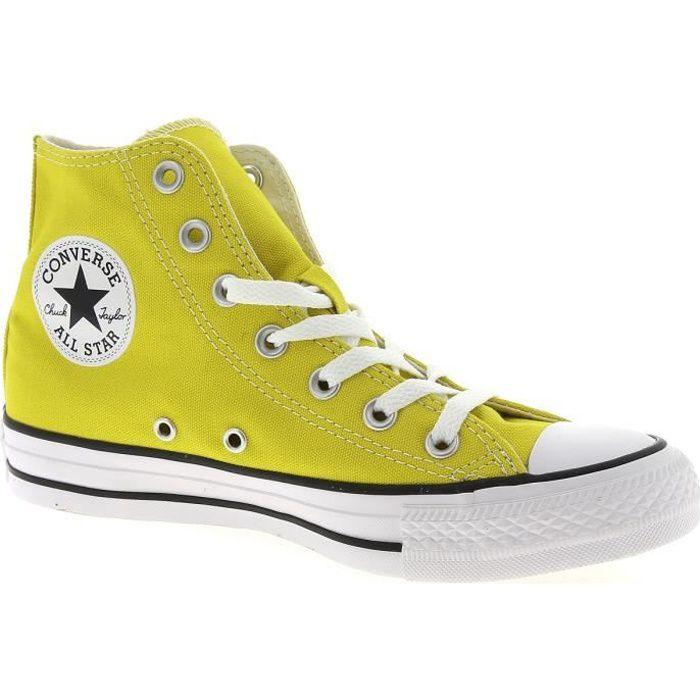 converse montante all star jaune