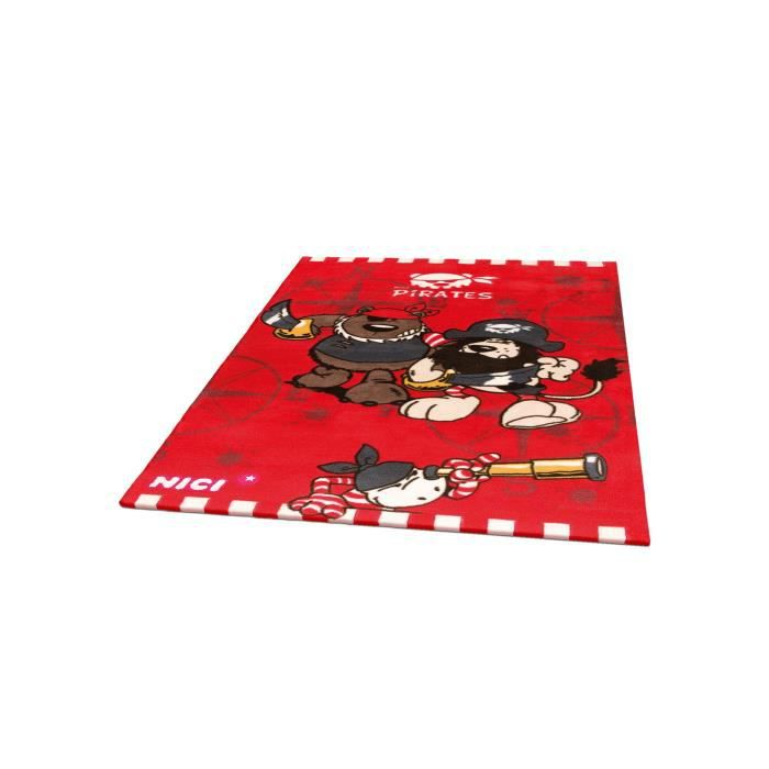 nici tapis enfants pirates rouge 120x180 cm achat vente tapis cdiscount. Black Bedroom Furniture Sets. Home Design Ideas