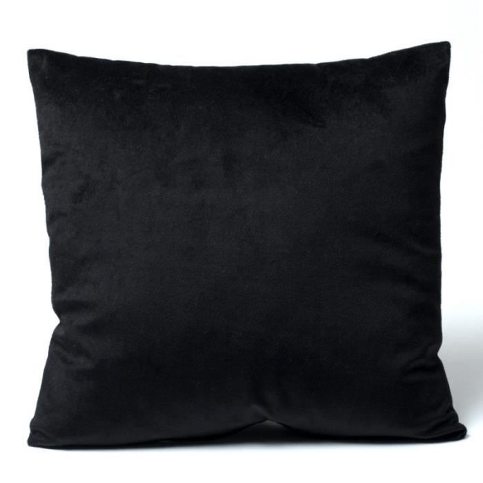 housse coussin velours 40 x 40 cm velours noir achat. Black Bedroom Furniture Sets. Home Design Ideas