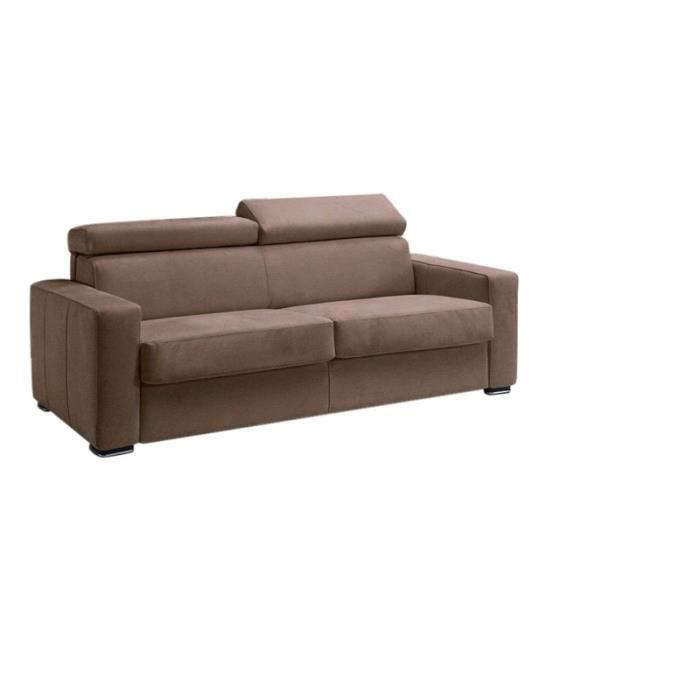 Canap convertible omega microfibre taupe 120x190 achat for Nouvelle collection canape