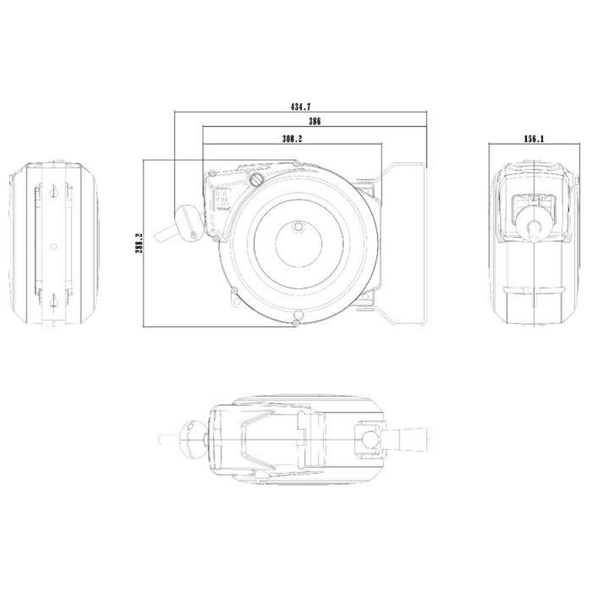 G Enrouleur de C/âble haute Performance 2,5 mm/² x 20 m avec Support Rotatif