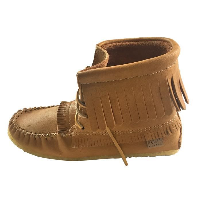 Fringed Moccasin Shoes Lace Up Ankle Boots X9QKX Taille-42