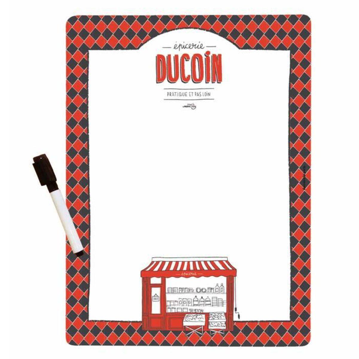 Tableau Noir Blackboard Magnétique Réfrigérateur Memo Board Puzzle