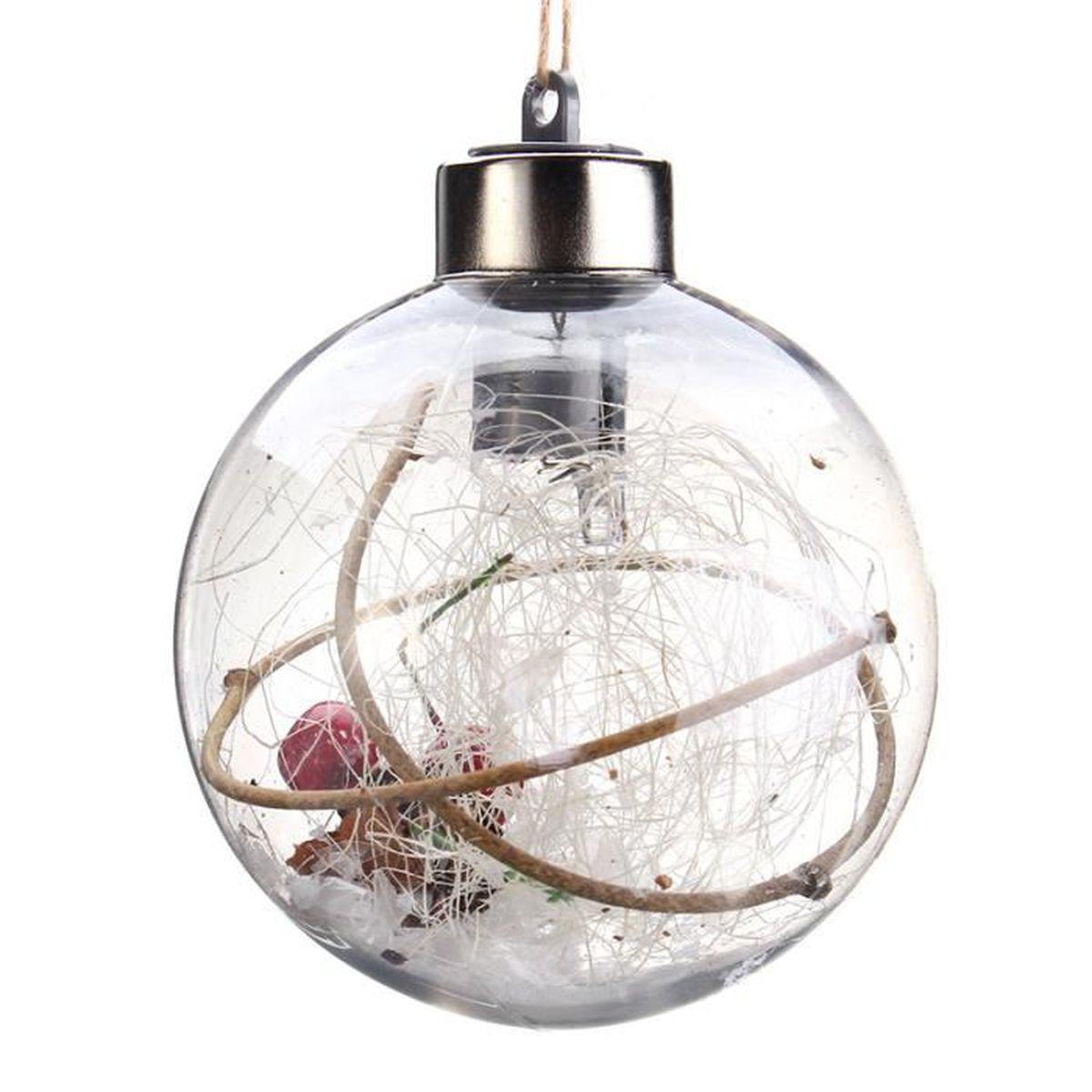 Boule De Noel Transparente A Decorer led ampoule noel décorer jardin porte fenêtre chambre type c