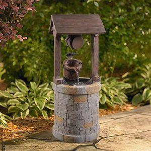 FONTAINE DE JARDIN Fontaine extérieur jardin décoration chute d'eau c