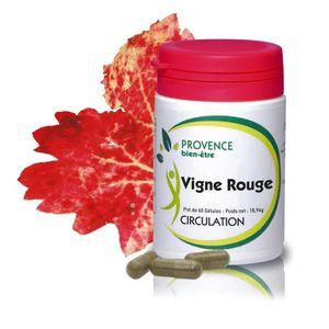 CIRCULATION SANGUINE VIGNE ROUGE - 60 gélules naturelles - propriétés v