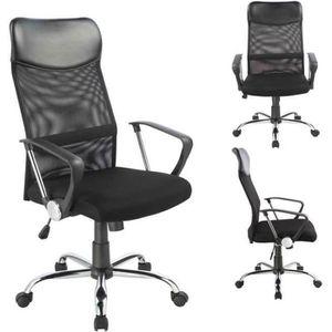 CHAISE DE BUREAU Fauteuil chaise de bureau hauteur réglable noir BU