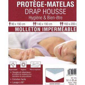 PROTÈGE MATELAS  Protège matelas imperméable 140x190 anti acariens
