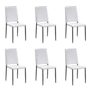 chaises Lot Lot 6 design blanches blanches 6 design chaises cLSRjA543q