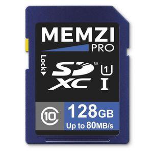 CARTE MÉMOIRE Carte mémoire SDXC Memzi Pro 128Go 80Mo-s Classe