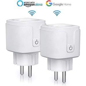 PRISE TÈLÈCOMMANDÈE 2PCS Prise Connectée Wifi, 16A Compatible avec And