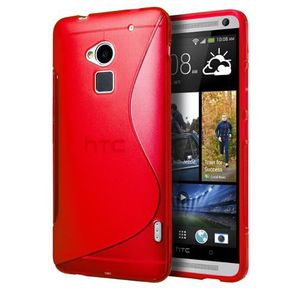 COQUE - BUMPER Coque TPU type S pour HTC One M7 - Rouge
