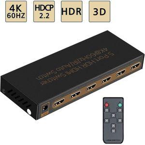 CÂBLE TV - VIDÉO - SON 4K@60Hz HDMI Switch 5x1 Premium Quality 5 In 1 Out