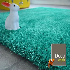 Tapis Shaggy Turquoise Achat Vente Tapis Shaggy Turquoise Pas Cher Cdiscount
