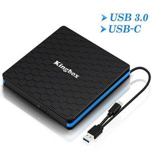 LECTEUR - GRAVEUR EXT. Kingbox® Graveur Lecteur CD/DVD - double USB-C USB