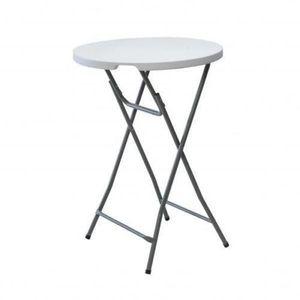 GEANTE TABLE DE BAR PLIANTE HAUTE RONDE PORTABLE PLIABLE ...