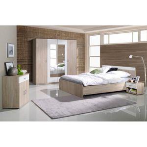 CHAMBRE COMPLÈTE  Chambre à coucher complète SAN. Lit avec sommier 1
