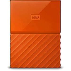 DISQUE DUR EXTERNE WD My Passport 4To Orange + 1 Housse Rigide Offert