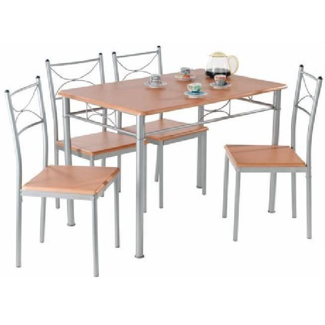 Lot table 4 chaises anapurna achat vente chaise - Ensemble chaise et table ...