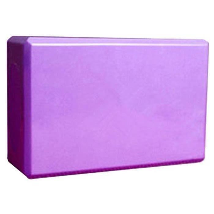 Mousse Bloc Yoga Anti Dérapantes Eco Friendly Exercise Brique de Yoga 23*15*8CM Violet
