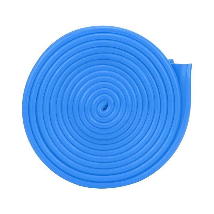 2.5 m / 8.2ft longueur 4 cm / 1.57in largeur bande de tension élastique ceinture résistante à l'étirement fitness (bleu)-CHD