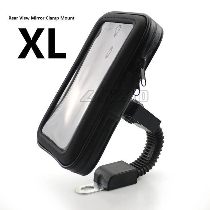 Protege Cadre,Support de téléphone pour guidon de moto, poche à fermeture éclair, accessoires étanches en cuir PU avec - Type XL #B