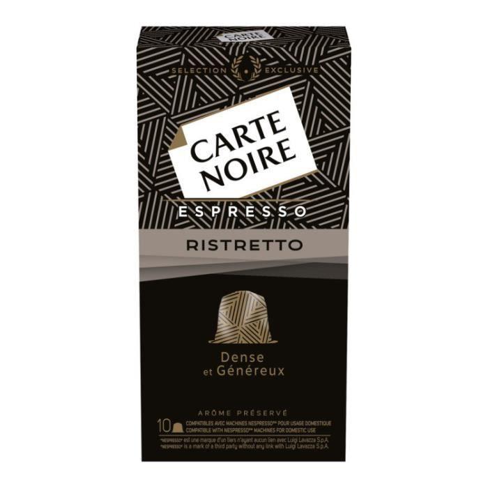 Café Capsules Espresso Ristretto Boîte de 10 capsules. Carte Noire