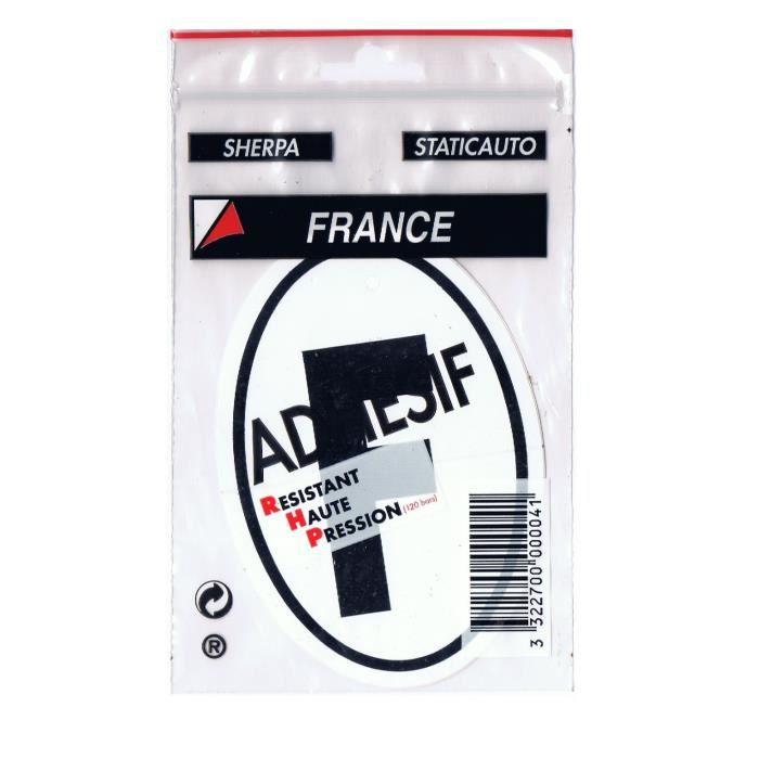HTC EQUIPEMENTS Disque adhésif -F- - France vertical