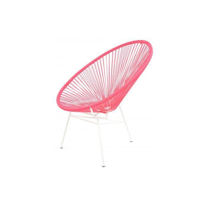 fauteuil la chaise longue rose acapulco declikdeco