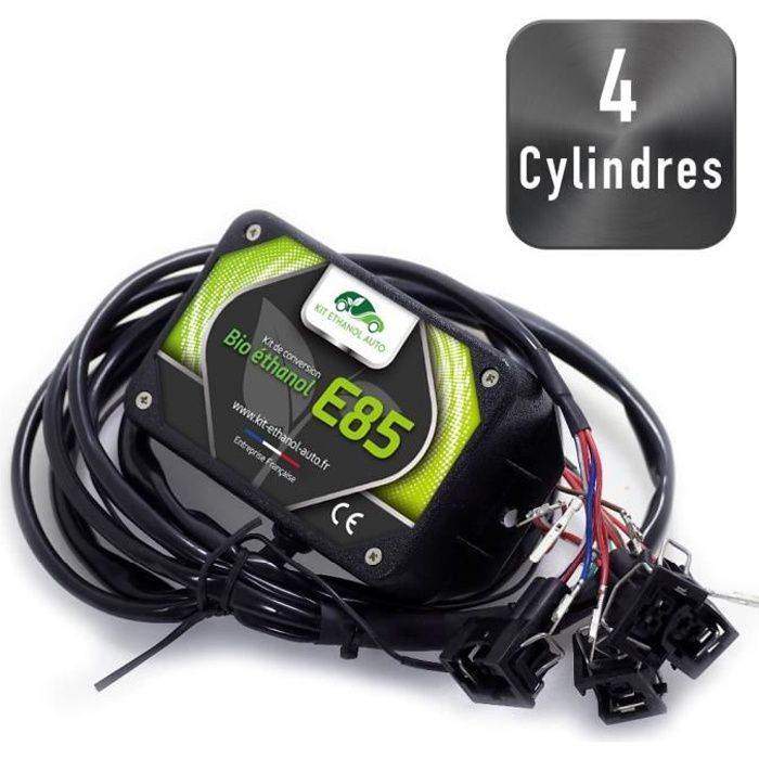 [ Kit 4 Cylindres - Connecteurs Bosch EV6 ] Kit Flex Fuel E85 + Diagnostic ELM327 USB