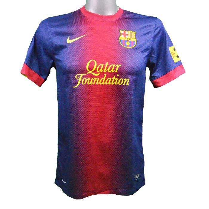 Maillot domicile FC Barcelone 2012/2013 Iniesta