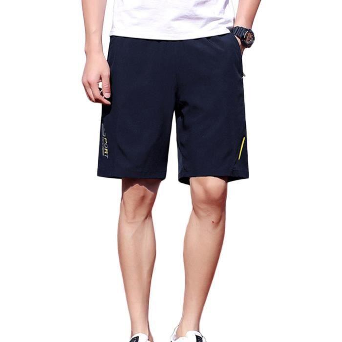 Short Sport Homme Pantalon Court Décontracté Respirant Séchage Rapide pour Jogging Entraînement Gym Fitness Casual Basketball