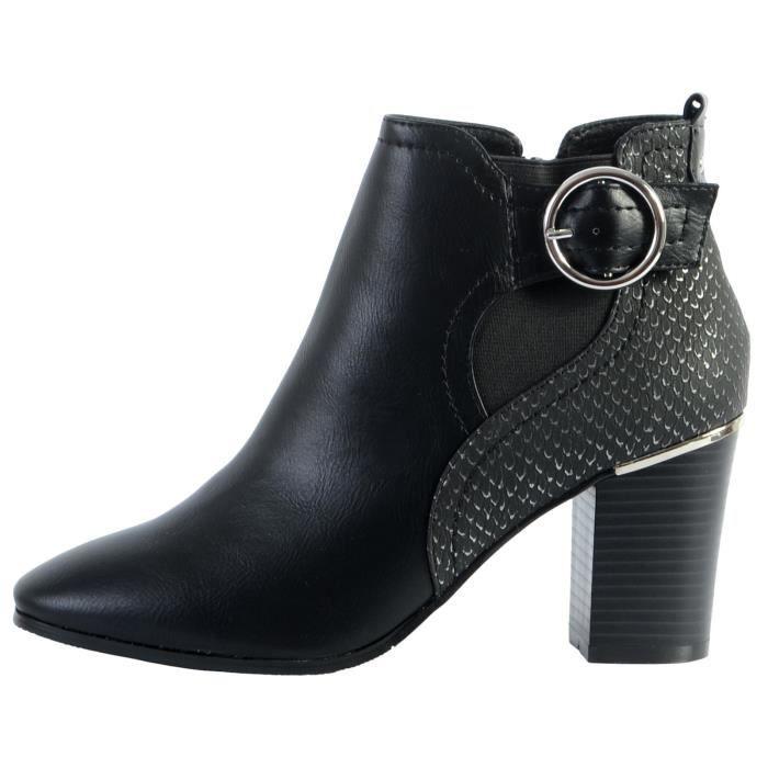 Boots The Divine Factory Bride/Boucle Noir Femme