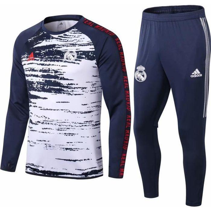 Nouveau Survêtement Reals Madrids Maillot de Foot Survet Kit 2020 2021 Pas Cher pour Homme