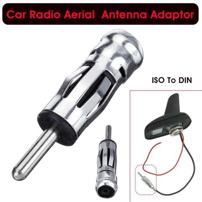 NEUFU Autoradio Stéréo ISO à DIN Adaptateur d'antenne Mâle Connecteur d'adaptateur