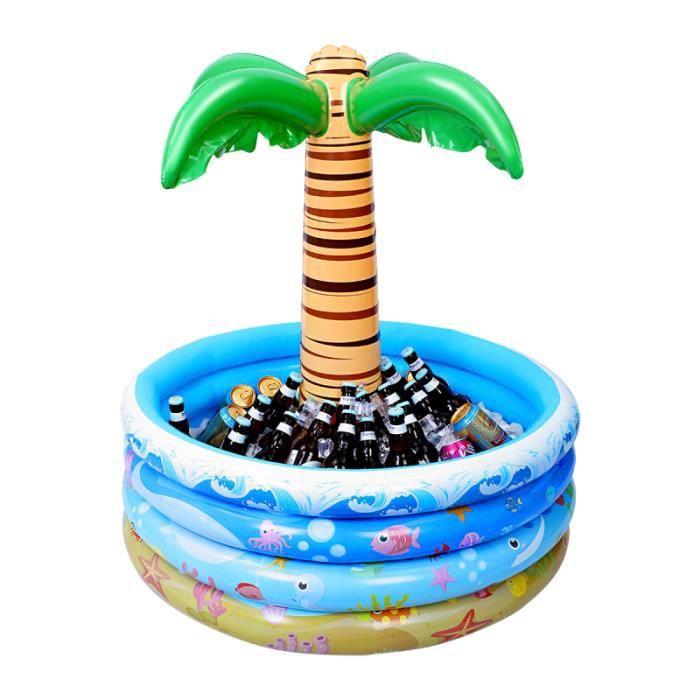 Toyvian 90x95cm Palm Tree Refroidisseur Gonflable Style Hawaïen Piscine D'eau GLACIERE - SAC ISOTHERME - ACCUMULATEUR DE FROID