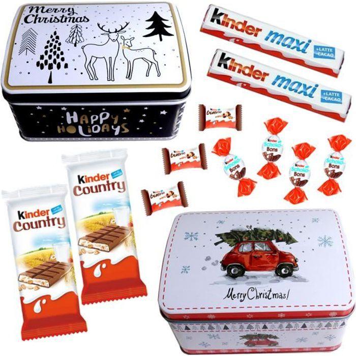 2 Boites de Noel garnies de 35 chocolats Ferrero Kinder
