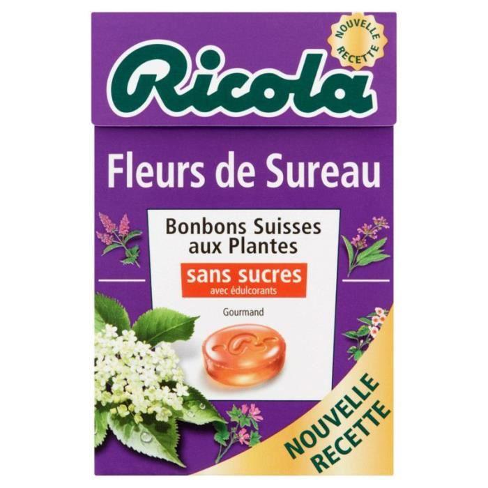 RICOLA Bonbons suisses - Fleurs de sureau 50g