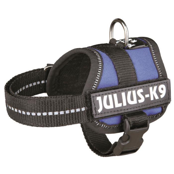 Harnais Power Julius-K9 - Baby 1 - XS : 30-40 cm-18 mm - Bleu - Pour chien