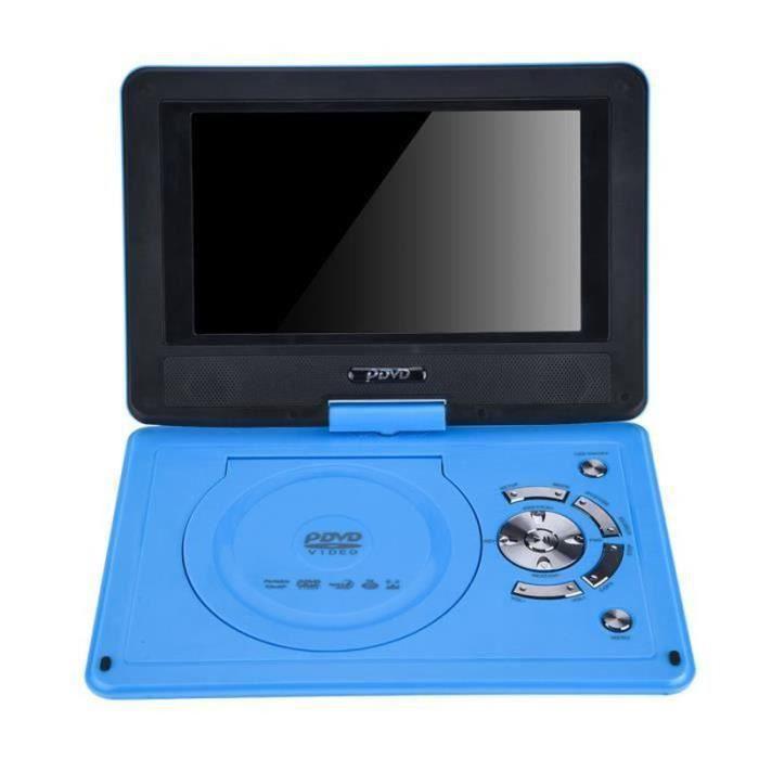 QJ20069-lecteur DVD de voiture portable Lecteur DVD de voiture à écran pivotant haute définition portable de 9,8 pouces VCD CD AVI