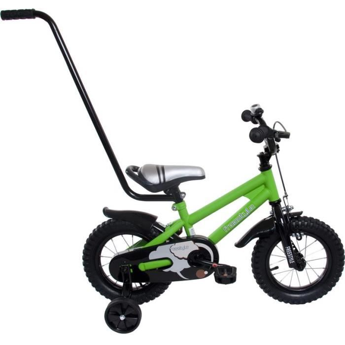 velo bmx enfant a pedale 3 5 ans 12 vert prix pas cher cdiscount. Black Bedroom Furniture Sets. Home Design Ideas