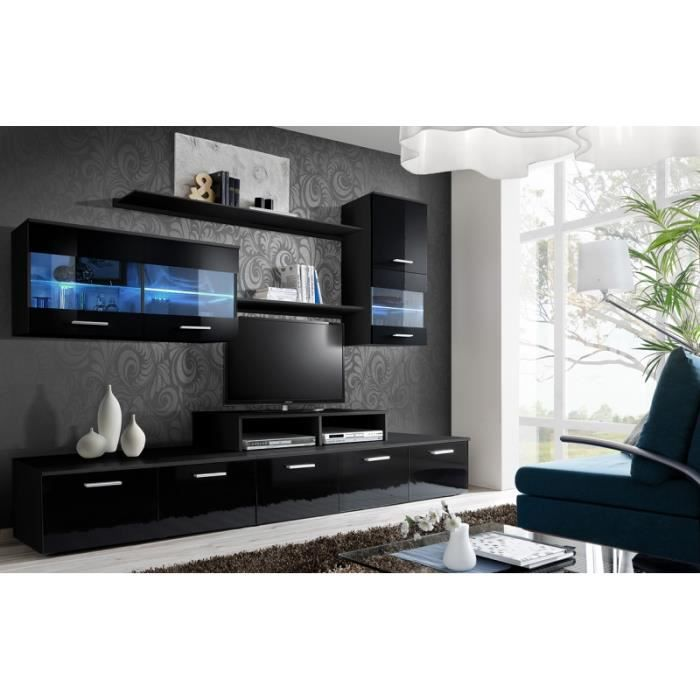 Meuble de salon tv beta complet design led achat vente meuble tv meuble - Salon complet design ...