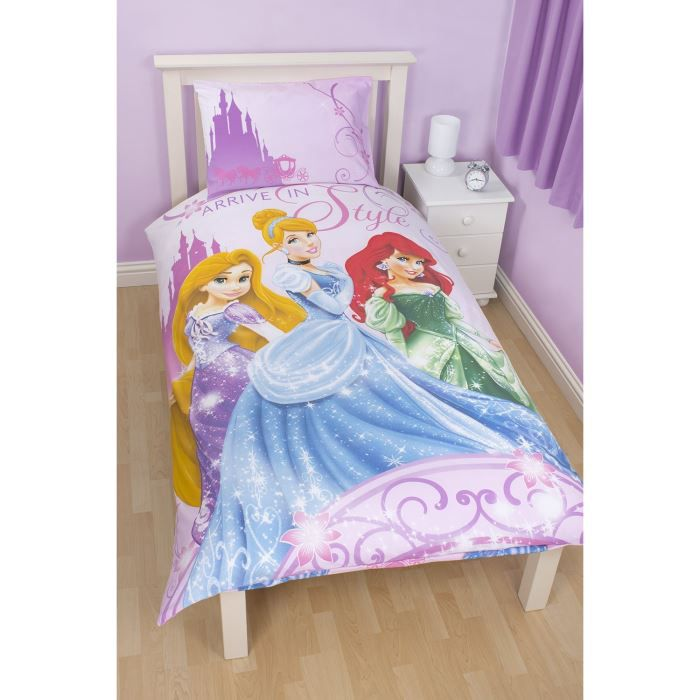 parure de lit housse de couette princesse disney achat. Black Bedroom Furniture Sets. Home Design Ideas