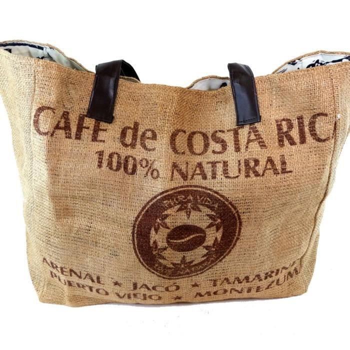 sac jute caf de costa rica achat vente sac jute caf de costa rica cdiscount. Black Bedroom Furniture Sets. Home Design Ideas