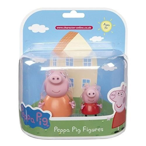 FIGURINE - PERSONNAGE PEPPA PIG. PACK 2 FIGURINES. PEPPA ET MAMAN COC…