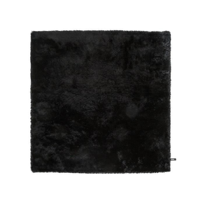 benuta tapis poils longs whisper noir 200x200 cm achat vente tapis cdiscount. Black Bedroom Furniture Sets. Home Design Ideas