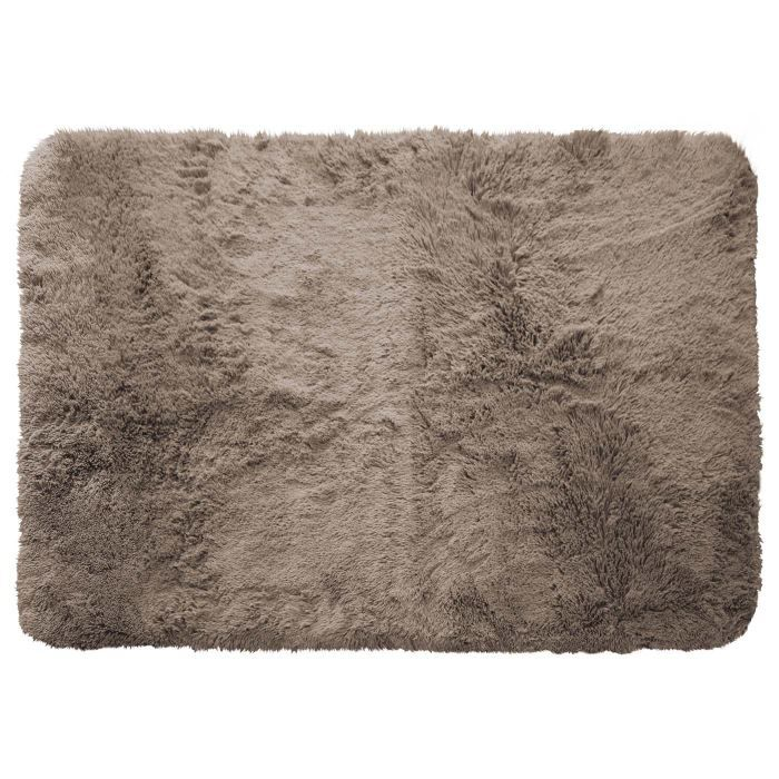 tapis poils longs 120x170cm marmotte taupe achat vente tapis cdiscount. Black Bedroom Furniture Sets. Home Design Ideas