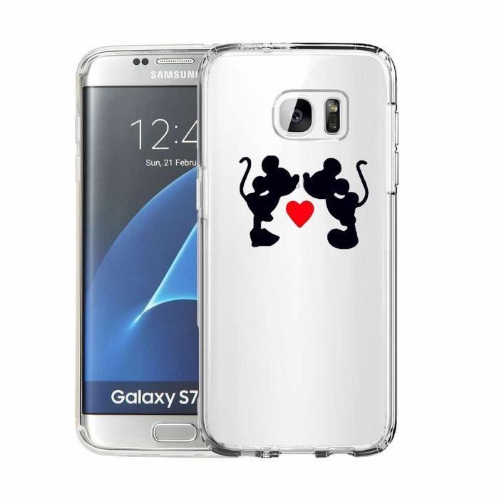 Coque Pour Samsung Galaxy S7 Mickey et Minnie Design Souple ...